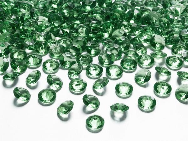 100 scattered diamonds dark green 1.2cm