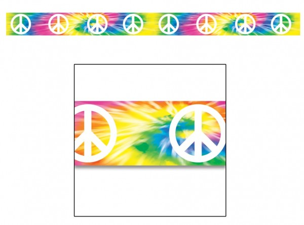 Buntes Peace Hippie Absperrband 6m