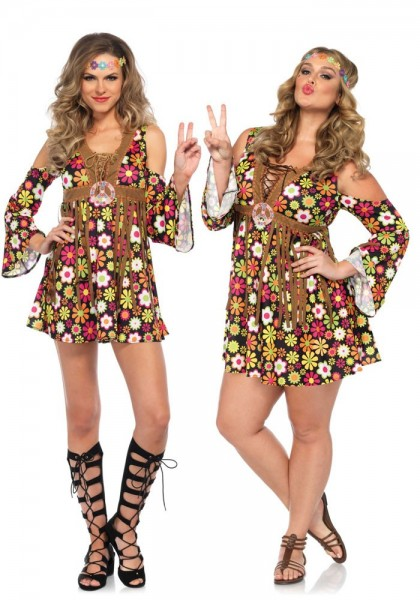 Flower Power Mädchen Plus Size Kostüm