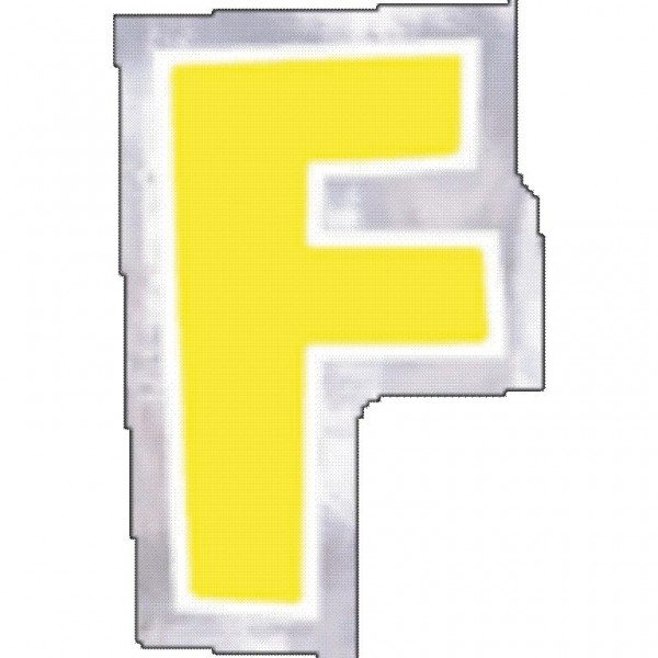 48 balloon stickers letter F.