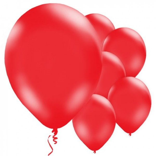 10 red balloons Passion 28cm