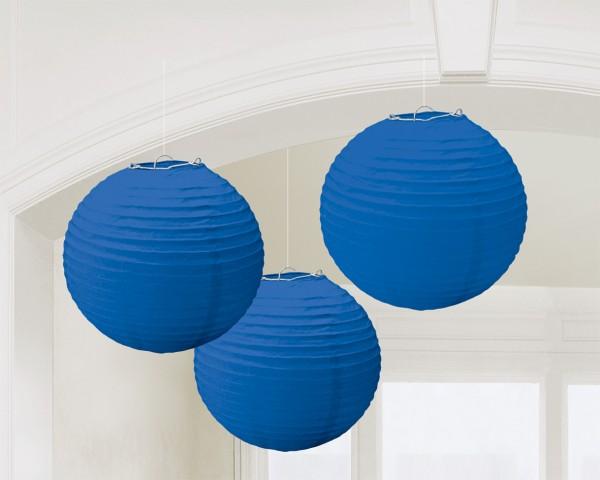 3 faroles chinos Summer Tale azul royal 20cm