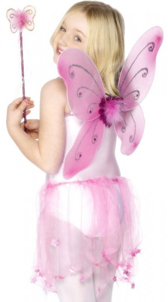 Feenhaftes Schmetterlings-Set mit Flügel Und Zauberstab