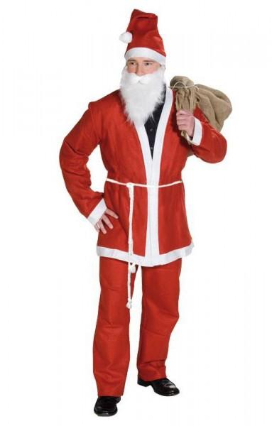 Rotes 5-Teiliges Weihnachtsmann Kostüm 1