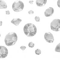 Tischdeko Diamanten transparent 100g