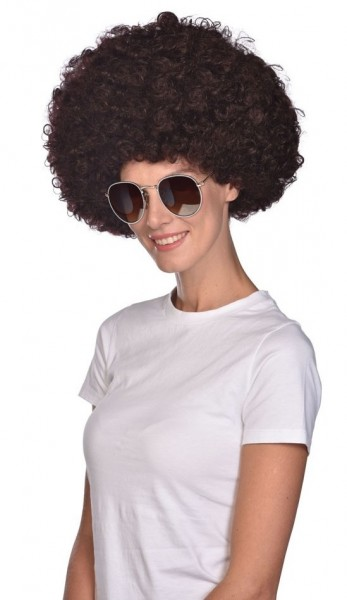 Brown Afro wig Disco Fever