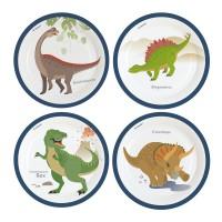 8 Happy Dinosaur Partyteller 23cm