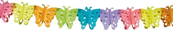Guirnalda de papel mariposa 6m