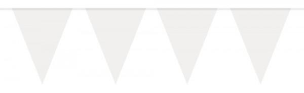 Guirnalda de banderines blancos 10m