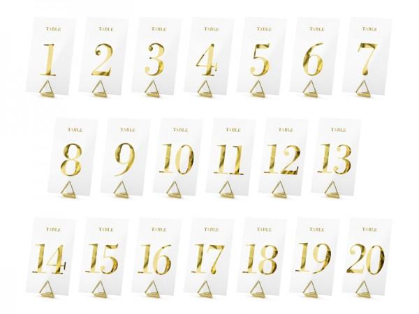 20 Tischnummern Schilder Eheglück