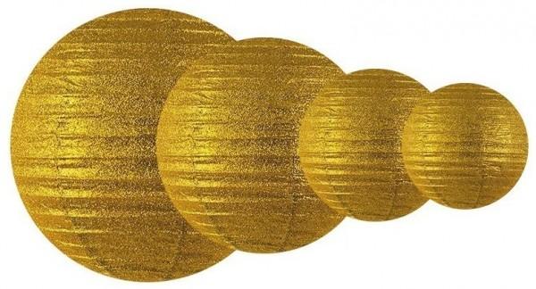 Glitter lantern Lilly gold 25cm