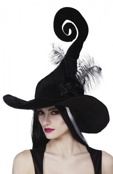 Chapeau de sorcière noir farfelu