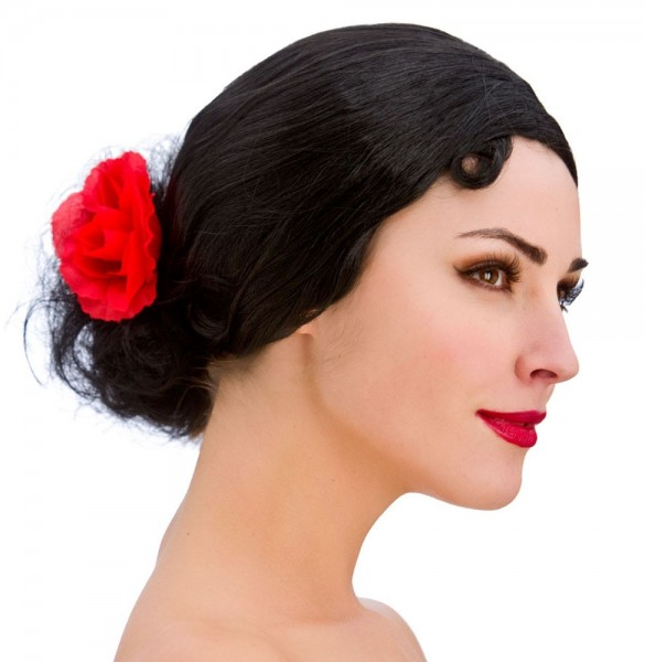 Klassisk spansk Señorita-paryk