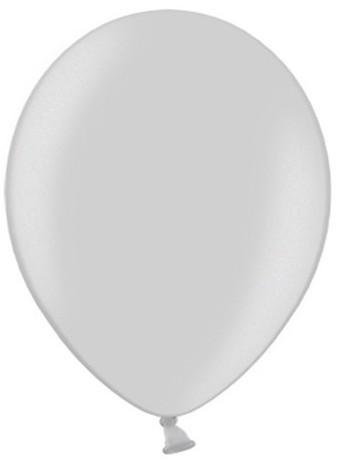 50 Partystar metallic Ballons silber 27cm