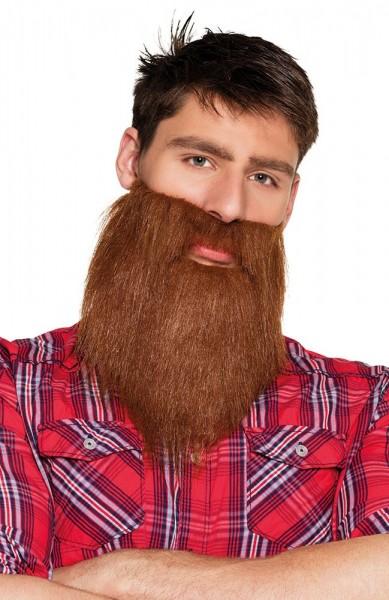 Brauner Holzfäller Bart
