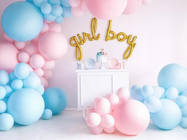 Ballon XL géant bleu bébé 60cm
