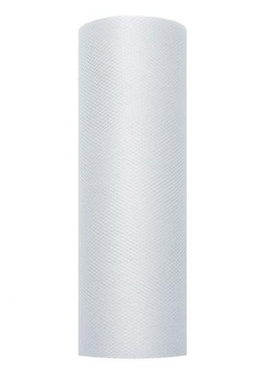 Tulle fabric Luna light gray 9m x 15cm