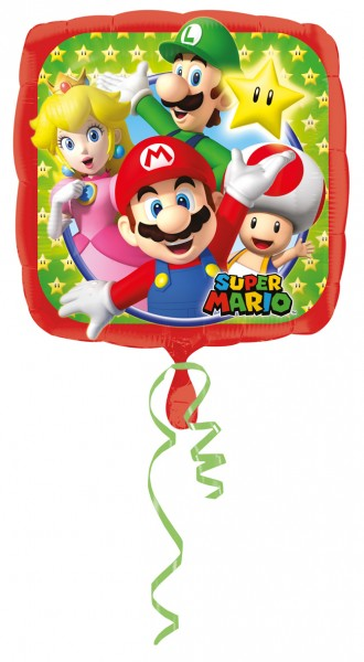 Folienballon Super Mario Family eckig