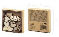 50 Holz Deko Herzen 2 x 2cm