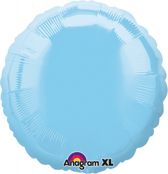 Ronde folieballon hemelsblauw 43cm
