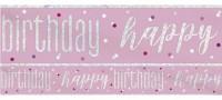 Pink Dots Birthday Banner 2,75m