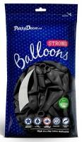 10 Partystar metallic Ballons schwarz 27cm