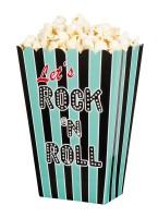 4 Türkise Rock & Roll Popcorn Boxen