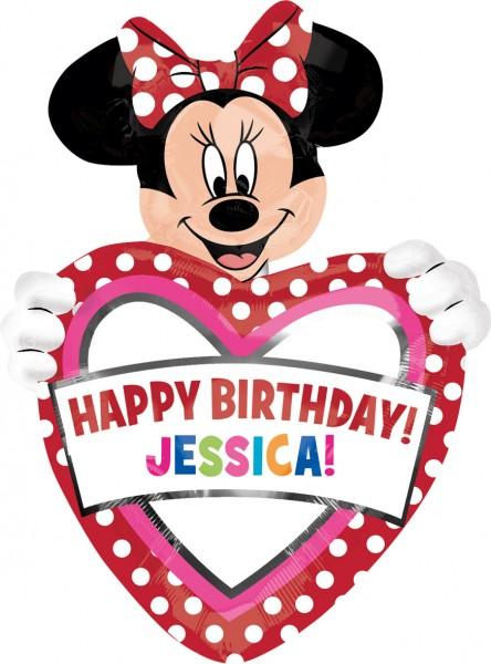 Personalisierbarer Geburtstagsballon Minnie Mouse