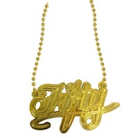 Halskette Bling Bling Fifty gold