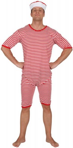 20er Jahre Badeanzug Rot-Weiß