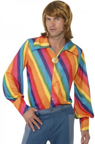 Chemise arc-en-ciel pour homme