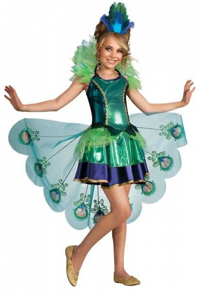 Costume pavone per bambina