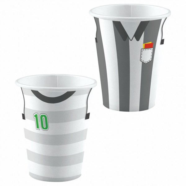 8 kicker and referee paper cups