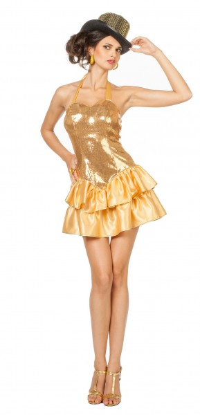 Glamour Showgirl Tanja Damenkostüm Gold