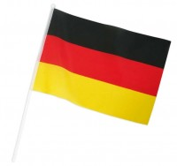 Deutschland Flagge mit Stab 20 x 30cm