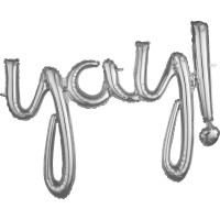 Silberner Yay Schriftzug 88 x 63cm