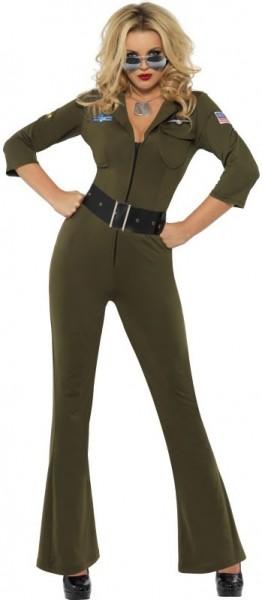 Pilotin Top Gun Damenkostüm