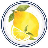 8 Limonen Garten Teller 18cm