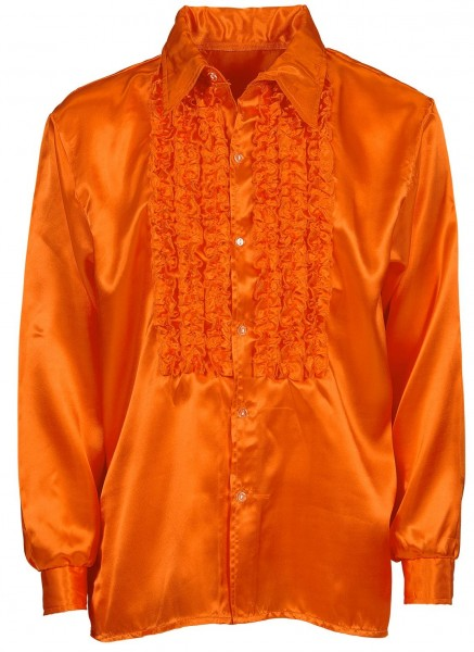 Chemise à volants orange