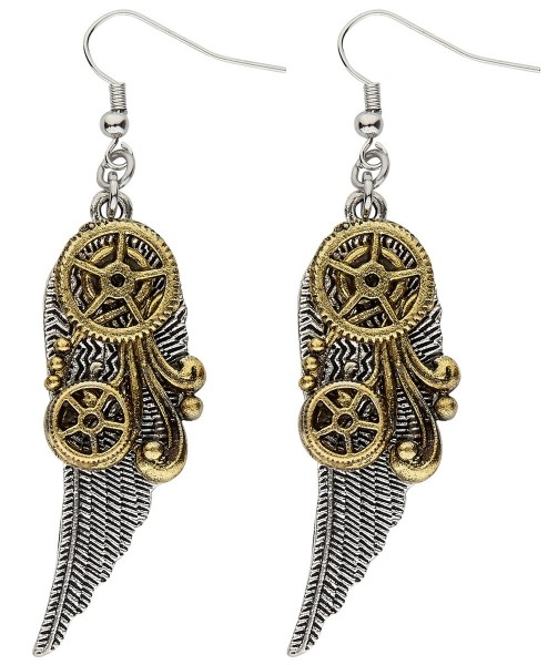Steampunk Flügel Ohrringe 1