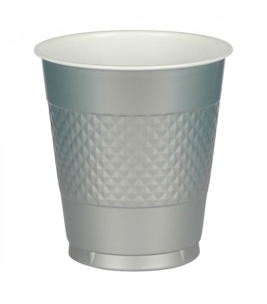 20 plastic cups June silver 355ml