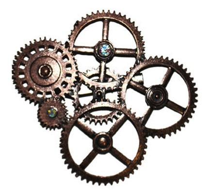 Broche steampunk de bronce