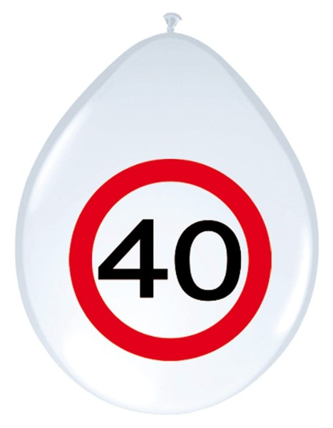 8 traffic sign 40 balloons 30cm