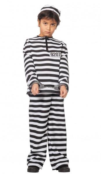 Gestreiftes Gefangenen Kinderkostüm