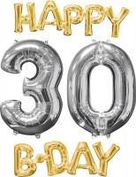 Folienballons Happy 30 Birthday 4-teilig
