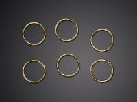 48 Goldene Eheringe zur Tischdekoration 2cm