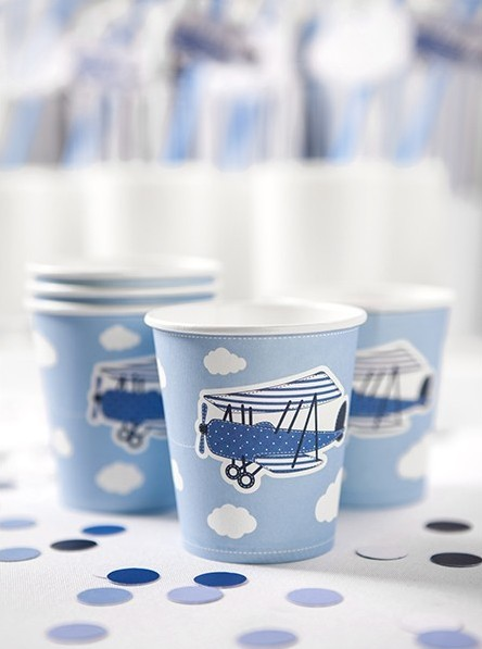 6 vasos de papel Little Plane 180ml