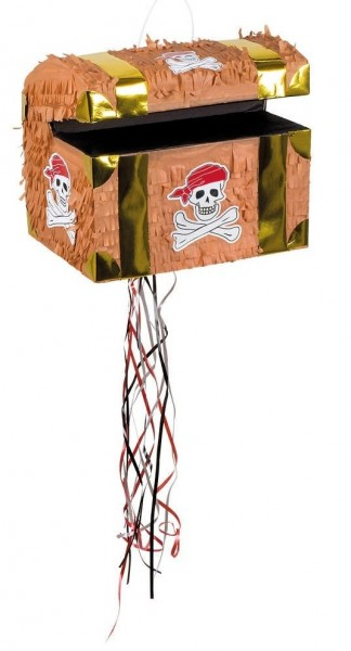 Tirette trésor pirate Pinata 30 x 26 cm