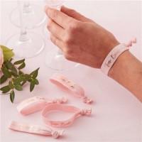 5 Rosy Bride Armbänder