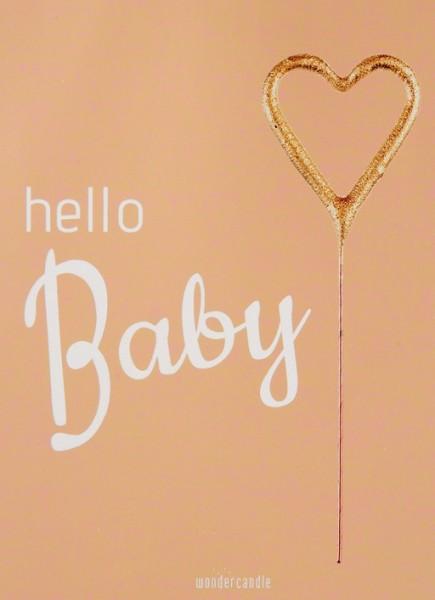 Hola bebé corazón Wondercard